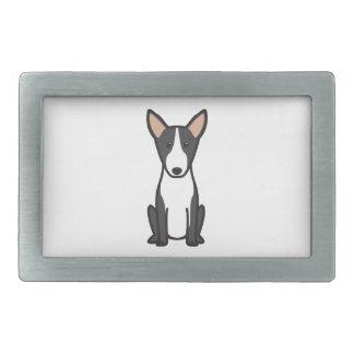 Bande dessinée de chien de bull-terrier boucles de ceinture rectangulaires