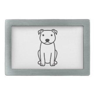 Bande dessinée de chien de bull-terrier du Staffor Boucle De Ceinture