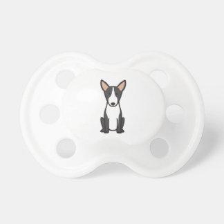 Bande dessinée de chien de bull-terrier tétines