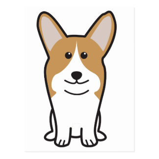 Bande dessinée de chien de corgi de Gallois de Pem Cartes Postales