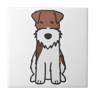 Bande dessinée de chien de Fox Terrier de fil Carreau