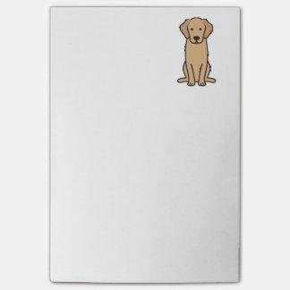 Bande dessinée de chien de golden retriever