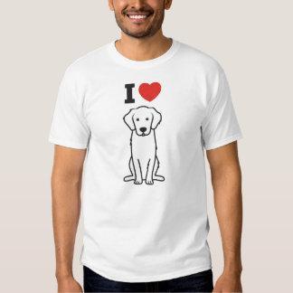 Bande dessinée de chien de golden retriever t-shirts