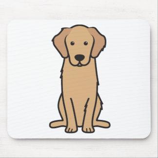 Bande dessinée de chien de golden retriever tapis de souris
