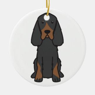 Bande dessinée de chien de poseur de Gordon Ornement Rond En Céramique