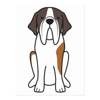 Bande dessinée de chien de St Bernard Carte Postale
