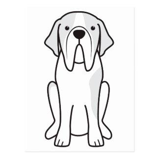 Bande dessinée de chien de St Bernard Cartes Postales