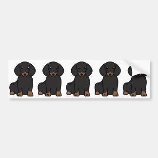 Bande dessinée de chien de teckel adhésifs pour voiture