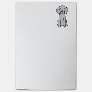 Bande dessinée de chien de Weimaraner
