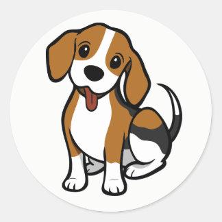Bande dessinée de chiot de beagle - autocollants
