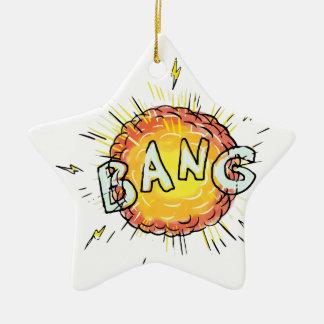 Bande dessinée de coup d'explosion ornement étoile en céramique
