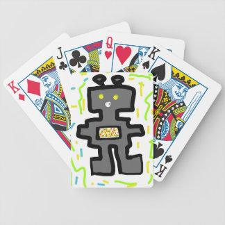 bande dessinée de dessin de robot cartes à jouer