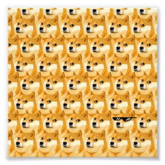 Bande dessinée de doge - texture de doge - shibe - impression photo