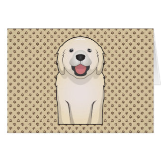 Bande dessinée de golden retriever carte de vœux