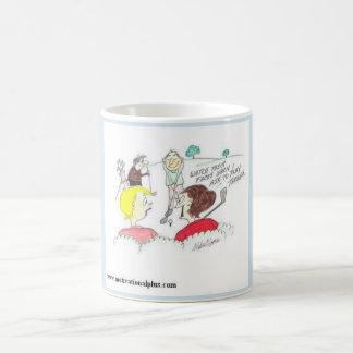 Bande dessinée de golf pour les golfeurs féminins mug