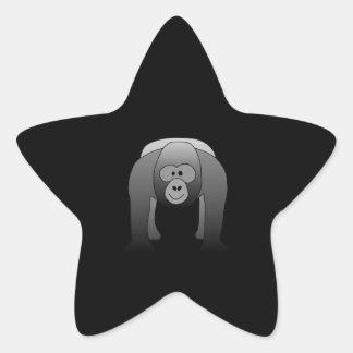 Bande dessinée de gorille de Silverback Sticker Étoile