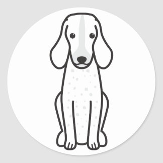 Bande dessinée de Grand Bleu de Gascogne Dog Autocollant Rond