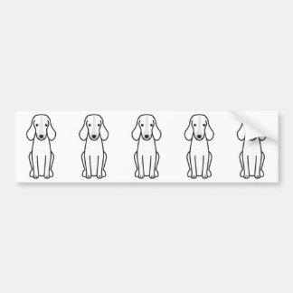 Bande dessinée de Grand Bleu de Gascogne Dog Autocollant De Voiture