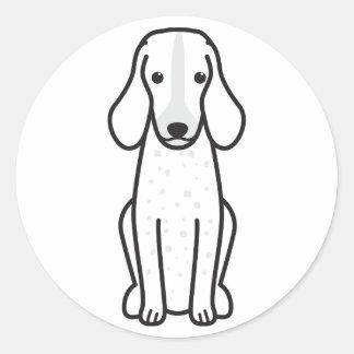 Bande dessinée de Grand Bleu de Gascogne Dog Sticker Rond