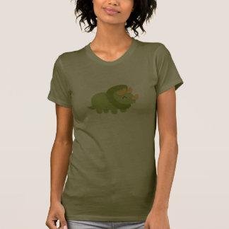 Bande dessinée de Kawaii de Triceratops vert et T-shirts