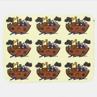 Bande dessinée de l'arche de Noé mignon Couvertures Pour Bébé