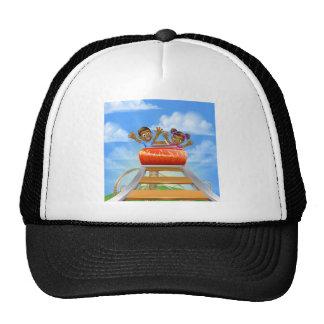 Bande dessinée de montagnes russes casquette de camionneur