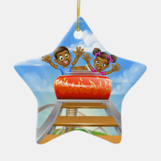Bande dessinée de montagnes russes ornement étoile en céramique