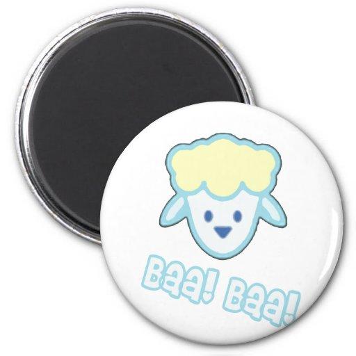 Bande dessinée de moutons de bébé magnets pour réfrigérateur