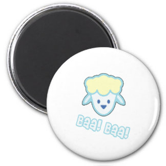 Bande dessinée de moutons de bébé magnet rond 8 cm