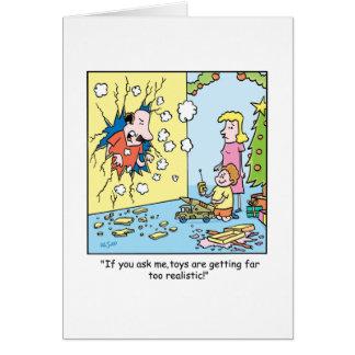 Bande dessinée de Noël au sujet des jouets Carte De Vœux