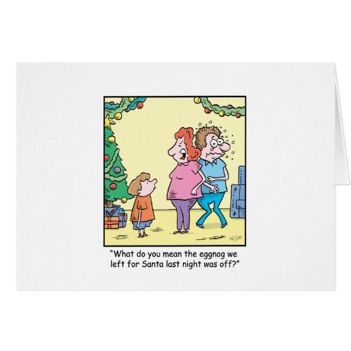 Bande dessinée de Noël outre de lait de poule Cartes De Vœux