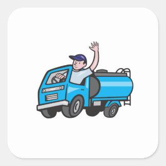 Bande dessinée de ondulation de chauffeur de sticker carré