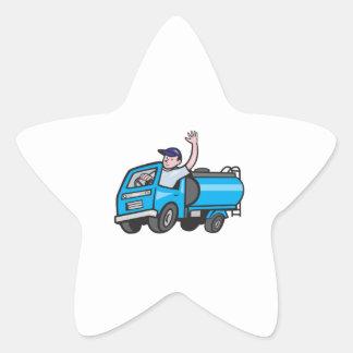 Bande dessinée de ondulation de chauffeur de sticker étoile