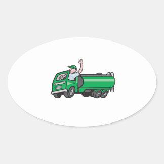 Bande dessinée de ondulation de chauffeur de sticker ovale