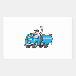 Bande dessinée de ondulation de chauffeur de sticker rectangulaire