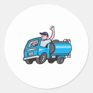 Bande dessinée de ondulation de chauffeur de sticker rond