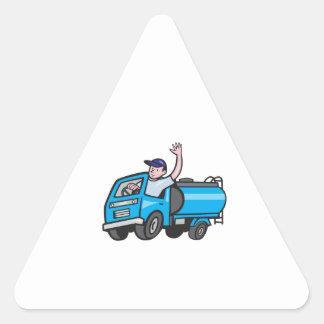 Bande dessinée de ondulation de chauffeur de sticker triangulaire