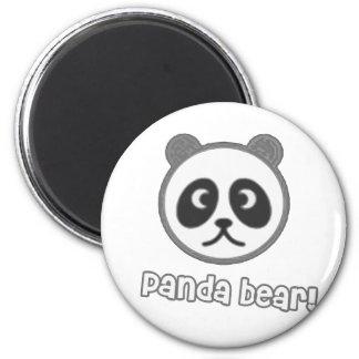 Bande dessinée de panda de bébé magnet rond 8 cm