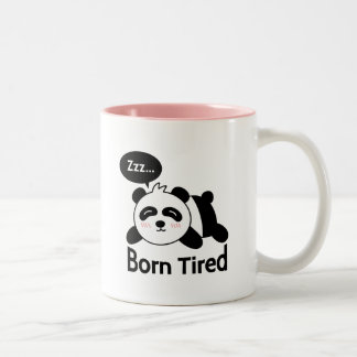 Bande dessinée de panda mignon de sommeil mug bicolore