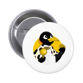 Bande dessinée de pingouin d'empereur badge