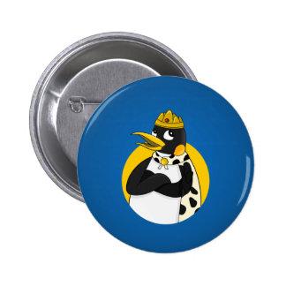 Bande dessinée de pingouin d'empereur badges