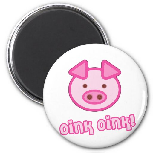 Bande dessinée de porc de bébé magnets pour réfrigérateur