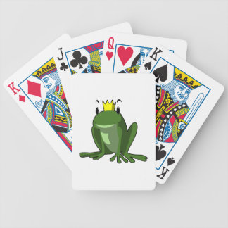 Bande dessinée de prince de grenouille jeu de cartes