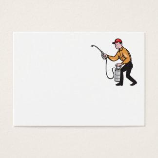 Bande dessinée de pulvérisation de travailleur cartes de visite