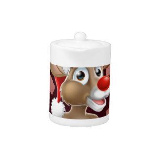 Bande dessinée de renne de casquette de Père Noël