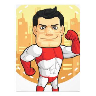 Bande dessinée de super héros invitations