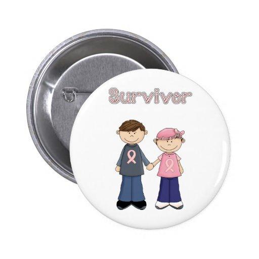 Bande dessinée de survivant badge avec épingle