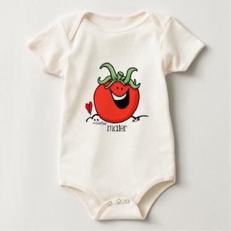 Bande dessinée de tomate - organique végétarien body