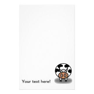 Bande dessinée de vache motifs pour papier à lettre