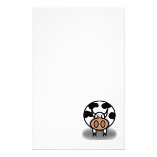 Bande dessinée de vache papier à lettre customisé